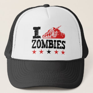 I Shoot Zombies Using Tank Trucker Hat