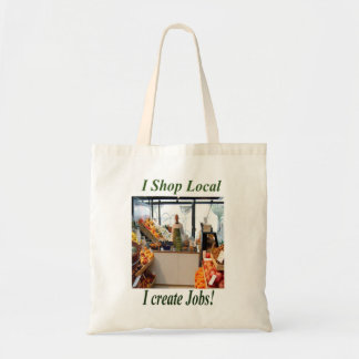 I Shop Local, I Create Jobs Tote Bags.