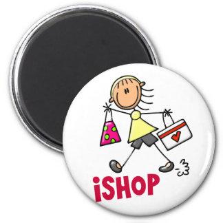 I SHOP Stick Figure T-Shirts & Gifts Magnet
