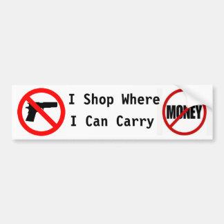 I shop where I can carry... Bumper Sticker