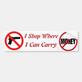 I shop where I can carry Bumper Sticker