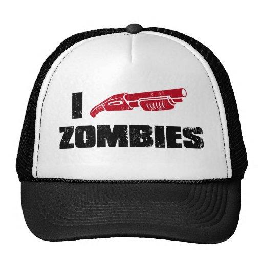 i shotgun zombies mesh hats