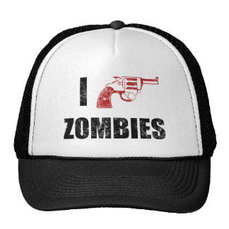 I Shotgun Zombies/ I Heart Zombies cap Trucker Hat