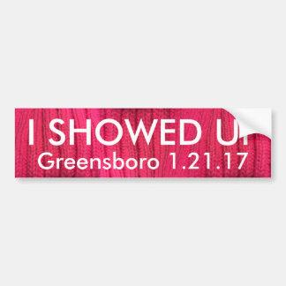 I Showed Up Greensboro Bumper Sticker