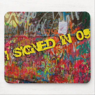 I signed in 09 mouse pad