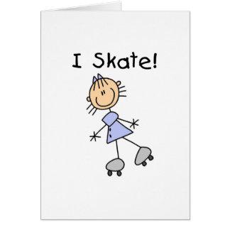 I Skate Girl Roller Skater Card