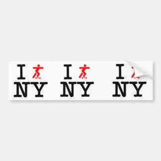 I Skate New York Value Bumper Sticker