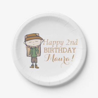 I skip naps for hiking babe birthday 7 inch paper plate
