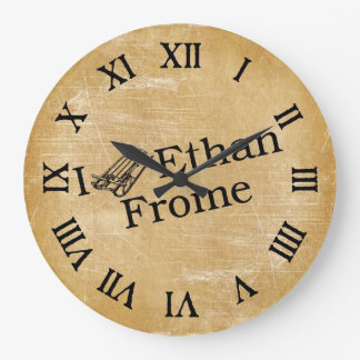 I Sled Ethan Frome Large Clock