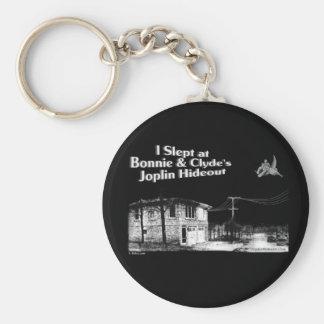 I slept at Bonnie & Clyde's Joplin Hideout Keychain