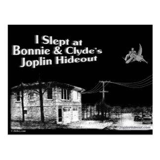 I slept at Bonnie & Clyde's Joplin Hideout Postcard