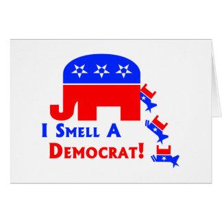 I Smell A Democrat Card