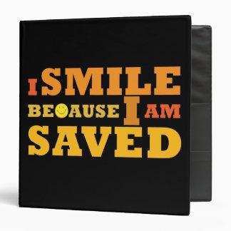 I Smile Because I am Saved Christian school binder