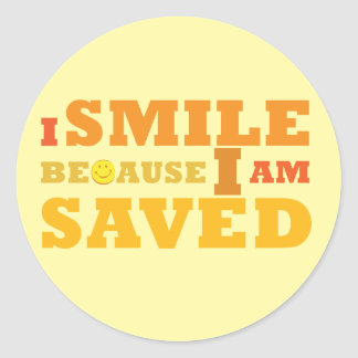 I Smile Because I am Saved stickers