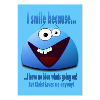 I smile because...V2 Tract Cards / Business Card Template