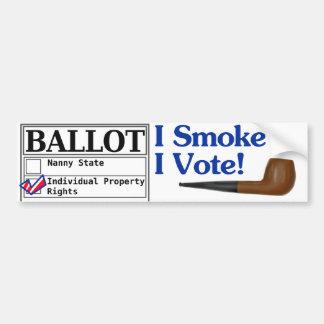 I Smoke And I Vote Bumper Sticker