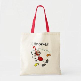 I Snorkel Stick Figure Bag