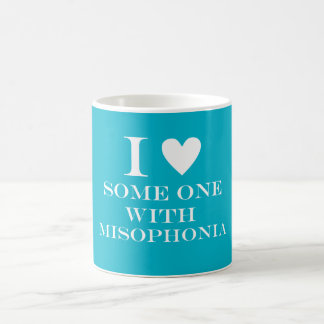 I ♥ Someone with Misophonia Mug - Turquoise