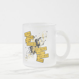 I Speak Army Frosted Glass Coffee Mug
