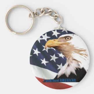 I speak fluent AMERICAN Basic Round Button Keychain