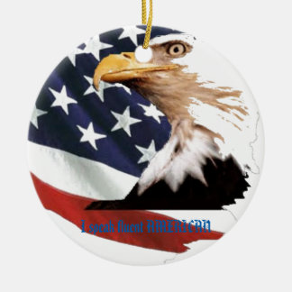I speak fluent AMERICAN Round Ceramic Ornament