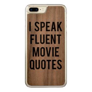 I speak fluent movie quotes carved iPhone 8 plus/7 plus case
