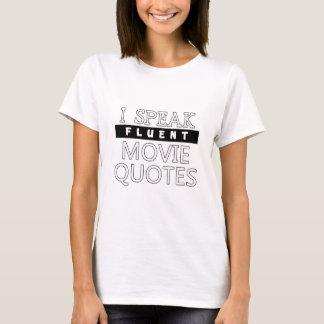 I Speak Fluent Movie Quotes Funny Gift T-Shirt