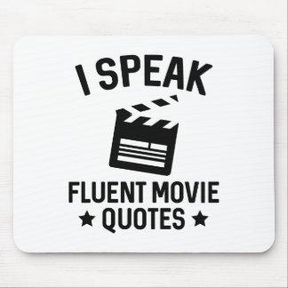 I Speak Fluent Movie Quotes Mouse Pad