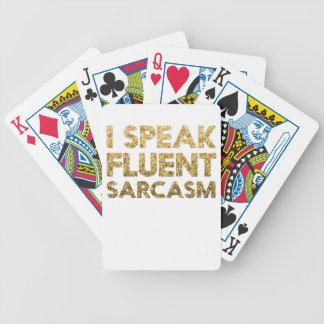 I speak fluent sarcasm bicycle playing cards