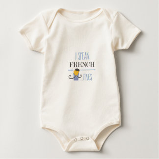 I Speak French... Fries Baby Bodysuit