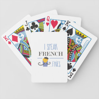 I Speak French... Fries Bicycle Playing Cards