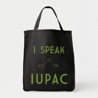 I Speak IUPAC grocery tote