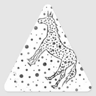 I Spot a Unicorn Triangle Stickers