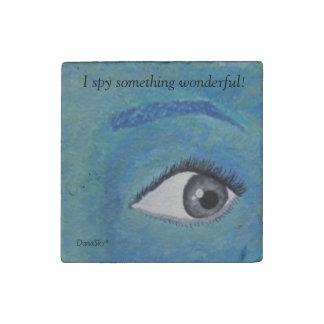 """""""I spy something wonderful!"""" Tile Stone Magnet"""