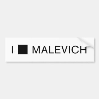 I [SQUARE] MALEVICH BUMPER STICKER