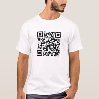 I Stalk You On Facebook QR Code Without Text T-Shirt