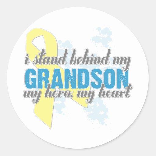 I stand behind my Grandson Sticker