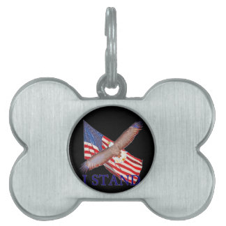 i stand for America Pet Name Tag