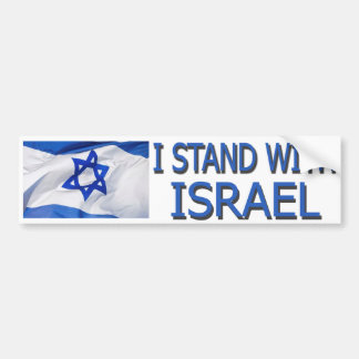 I STAND FOR ISRAEL BUMPER STICKER