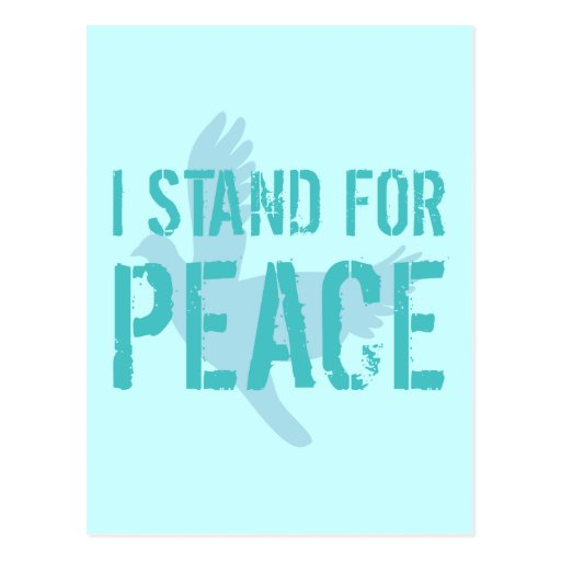 I Stand for Peace Postcards