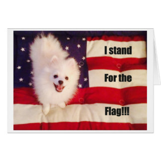I stand for the flag greeting card