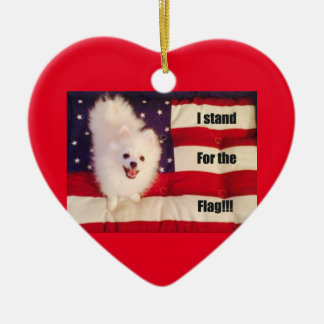 I stand for the flag  heart shaped ornament