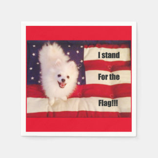 I stand for The flag Napkins