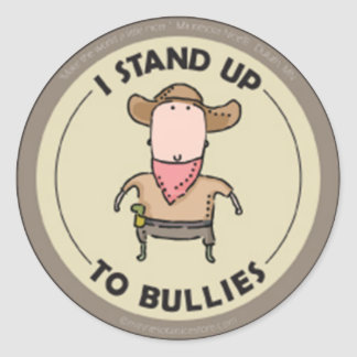I Stand Up to Bullies Stickers