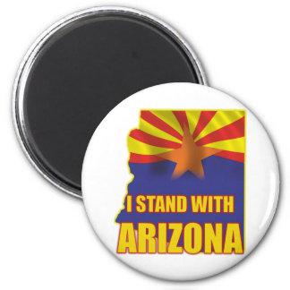 I stand with Arizona 2 Inch Round Magnet