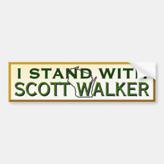 I Stand With Governor Scott Walker Bumper Sticker