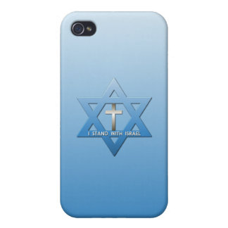 I Stand With Israel Christian Cross iPhone 4 Covers