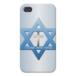 I Stand With Israel Christian Cross Star of David iPhone 4/4S Cases