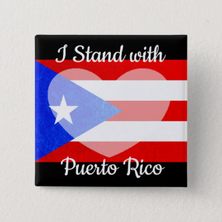 I Stand with Puerto Rico Button