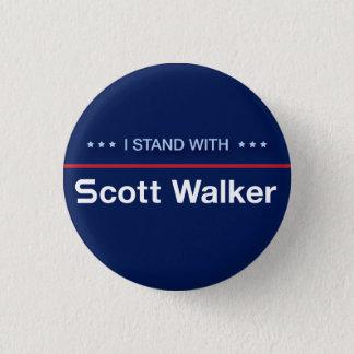 I Stand With Scott Walker 1 Inch Round Button